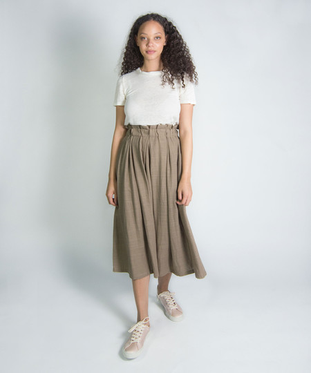 Wrk-Shp Long Draft Skirt