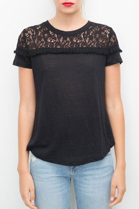 Generation Love Rooney Lace Top - Black