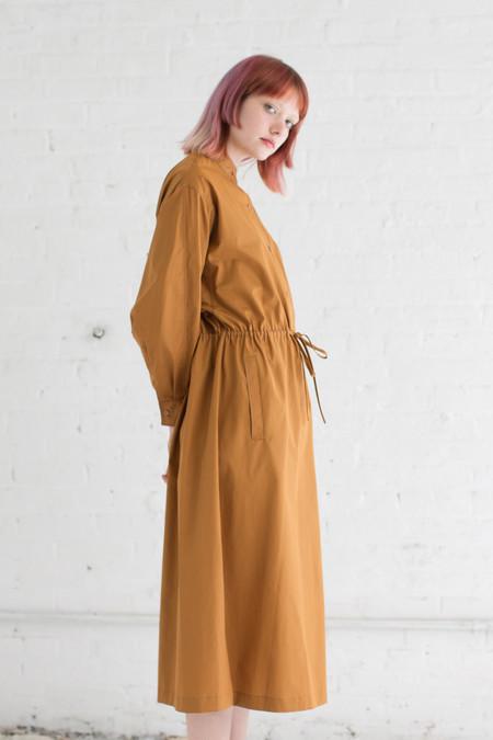 Veronique Leroy Popeline Long Dress in Rust