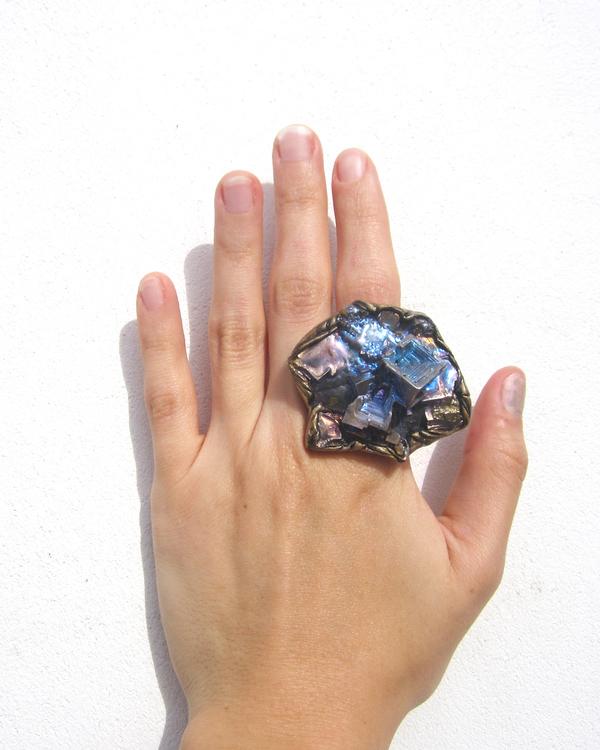 Adina Mills Igniter Ring with Pyrite