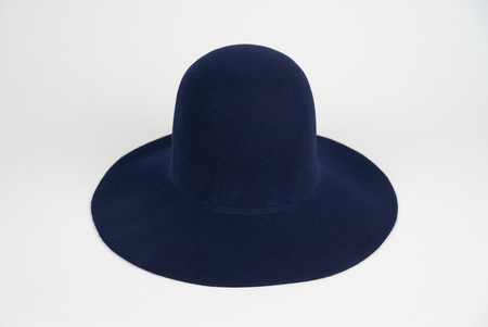 Clyde Wide Brim Dome Hat in Wool Angora