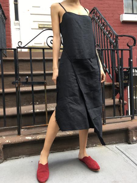 Alexa Stark Linen Criss Cross Front Dress