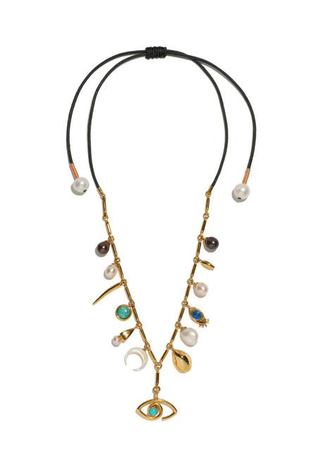 Lizzie Fortunato Anastasia Charm Necklace