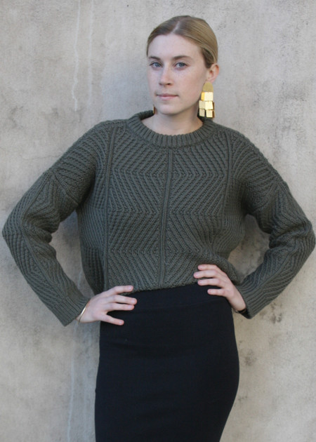 Micaela Greg Bevel Sweater - Olive