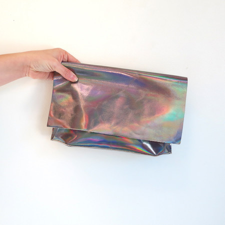 Tracey Tanner Carmen Clutch in Dove Hologram