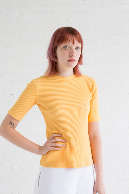 Delfina Balda Inga Knit Top in Dandelion