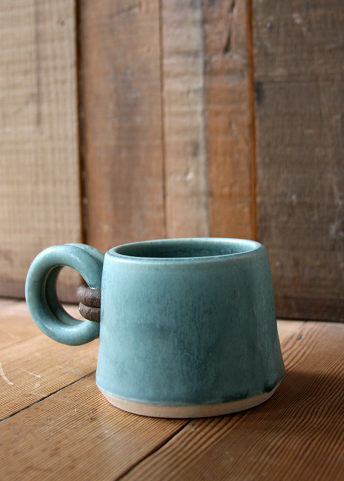 jan schachter loop handle mug turquoise garmentory. Black Bedroom Furniture Sets. Home Design Ideas