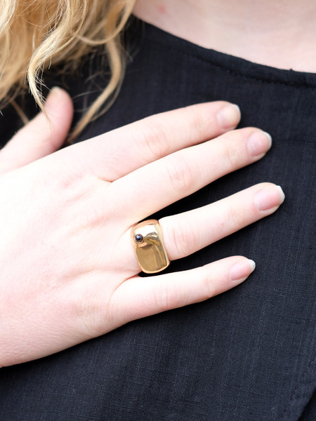Uni Jewelry LADY RING WITH BLACK PEARL