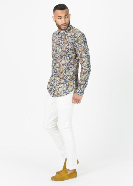 Tintoria Mattei 954 Bramble Print Button-Up Shirt