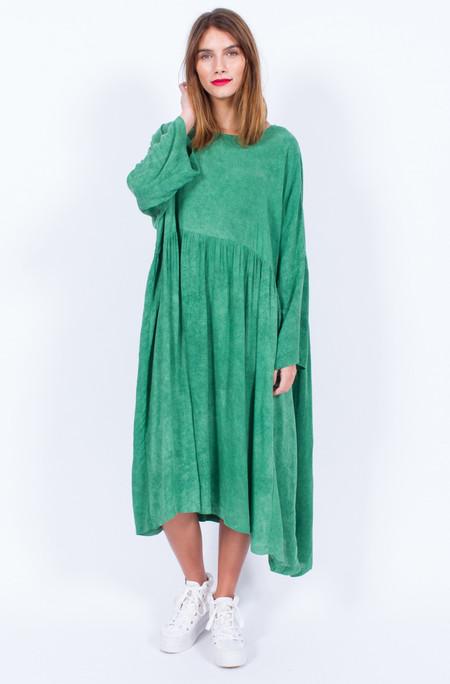 Yo Vintage! GREEN OVERSIZED COTTON DRESS