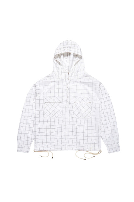 Wonders Reflective Wave Grid Nylon Half-Zip Pullover Shirt
