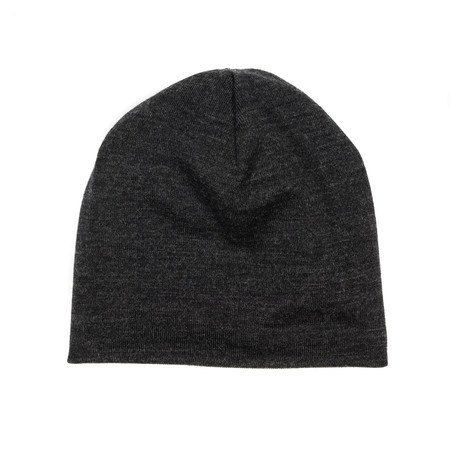 Engineered Garments Long Beanie - Charcoal Wool Jersey