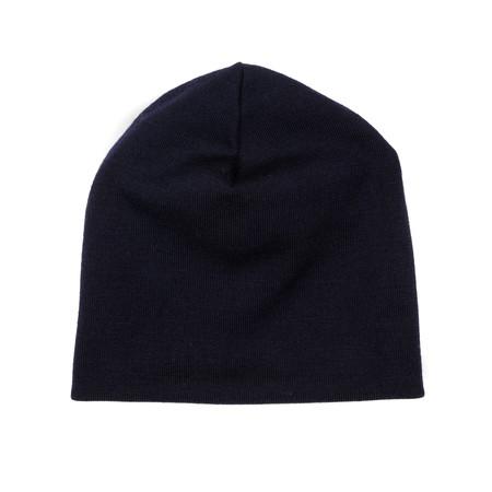 Engineered Garments Long Beanie - Dark Navy Wool Jersey
