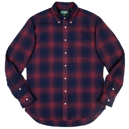 Gitman Vintage Gitman Button-Down Shirt - Indigo Burgundy Flannel