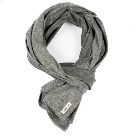 The Hill-Side Scarf - Oatmeal Galaxy Tweed