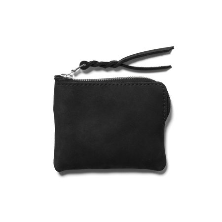Maple Half Zip Wallet ( Suede) - Black