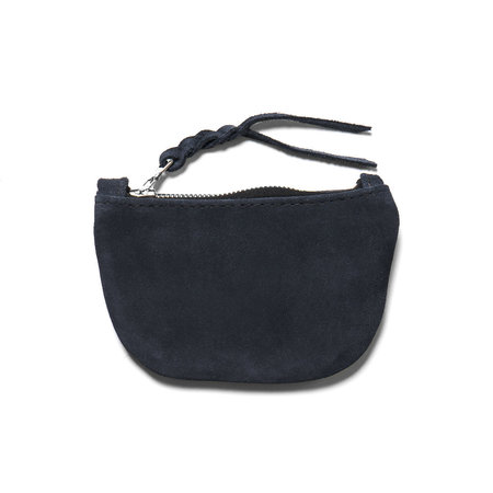 Maple Zip Pouch (Suede) - Navy