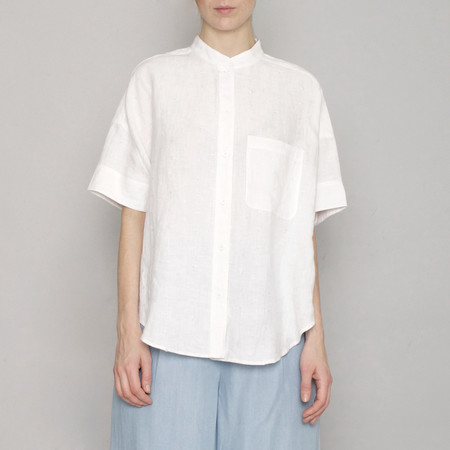 7115 by Szeki Linen Pocket Shirt - Off-White