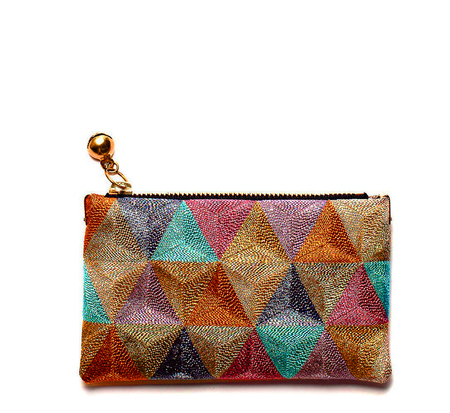 Anne Grand-Clément Rosebud Rainbow Extra Small Pouch