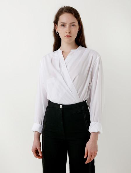 Lemaire Wrapover Shirt White