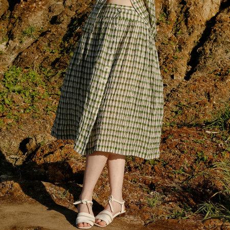 Nikki Chasin Lingo Buttonfront Skirt - Green Multi
