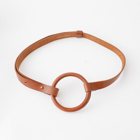 Crescioni Tula Belt - Saddle brown
