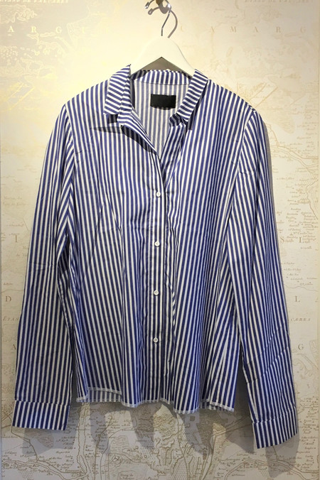 RtA 'Gia' Stripe Cotton Deep V Shirt