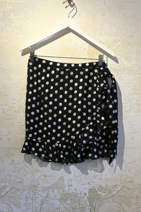 Dodo Bar Or 'Leen' Silver Polkadot Mini Skirt