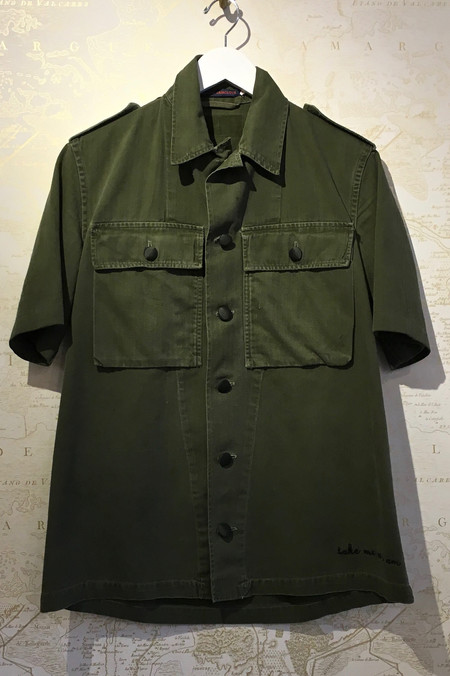 Harvey Faircloth Short Sleeve 'Take Me As I Am' Army Jacket