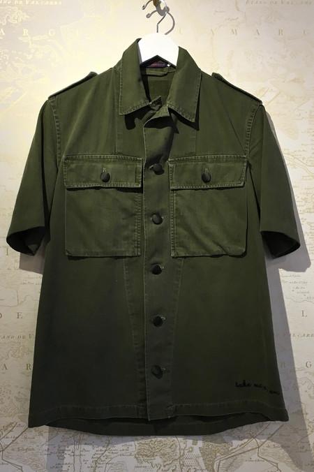 Harvey Faircloth Short Sleeve 'Take Me As I Am' Army Jacket