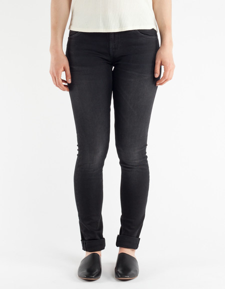 Nudie Skinny Lin Black Habit Washed Black