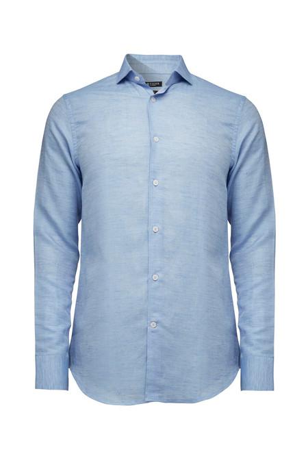 Tiger of Sweden Farrell 5 Linen Shirt - Dust Blue