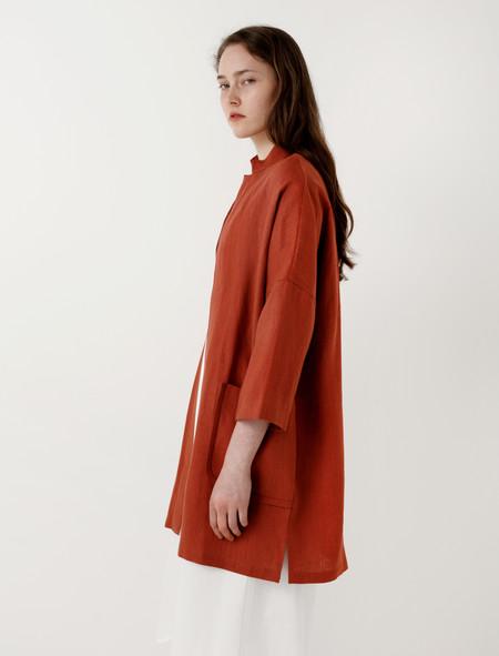 Priory Range Jacket Terracotta Linen
