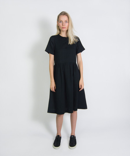 Wrk-Shp Short Sleeve Button Dress