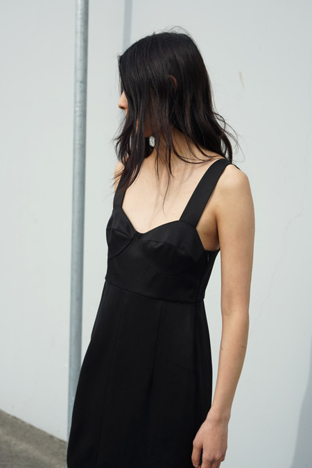 Waltz Bralette Dress in Black