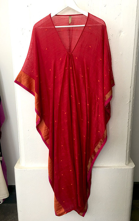 Two Silk and cotton red caftan