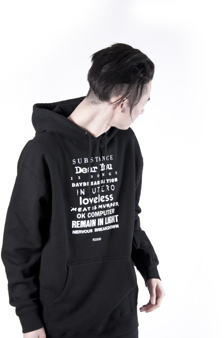 PLEASURES 'TITLES' Hoodie Black