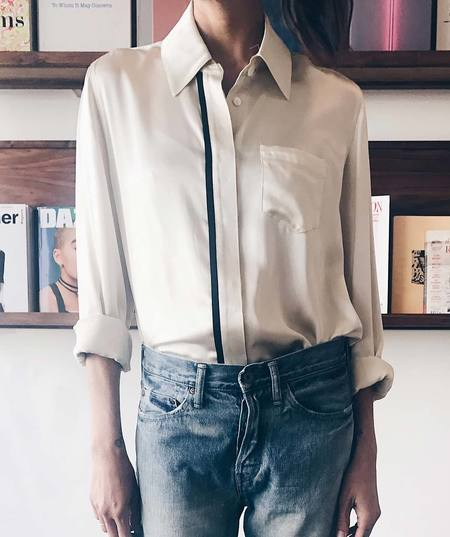Veda Hank Silk Button Down Top