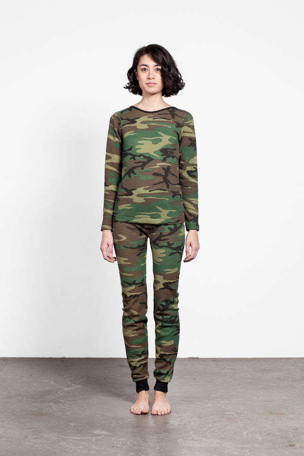 Edith A. Miller Camo Long Sleeve Top