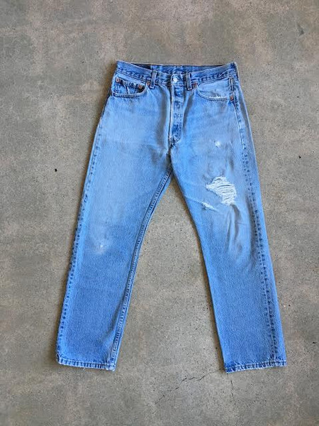 Levis Made & Crafted Medium Light Distressed Vintage Levi's 501