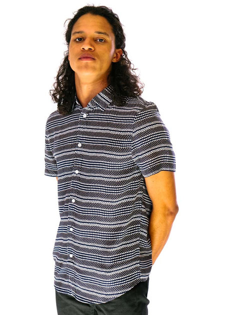 Native Youth Clovelly Shirt - Navy