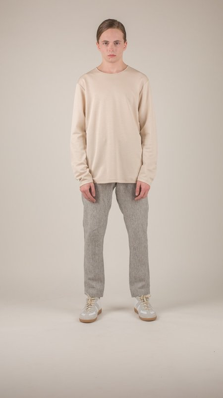 wings + horns - Sand Link Knit Long Sleeve