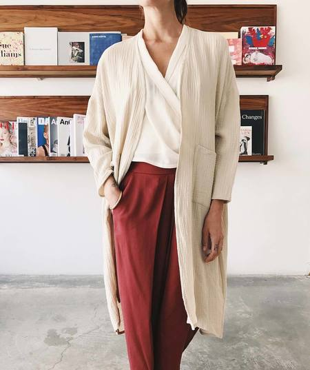 Priory Cotton Gauze Ro Jacket - Sand