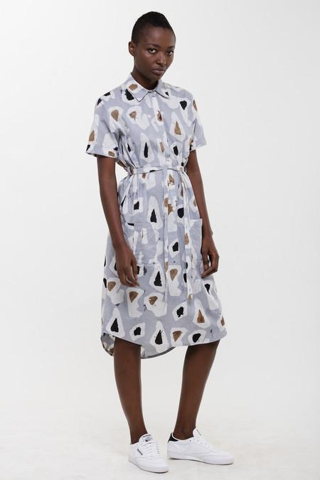 Osei-Duro Agona Dress in Grey Platelets