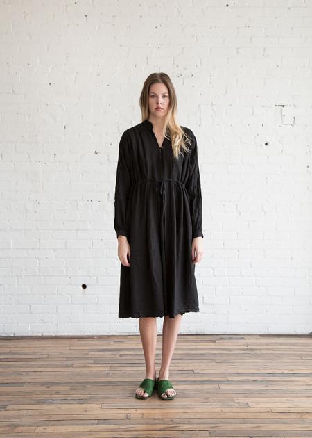 Black Crane Poet Dress Black