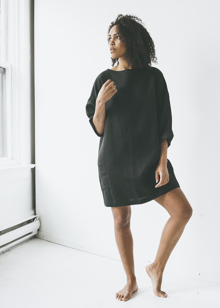 Lloyd - Tunic in Black Linen