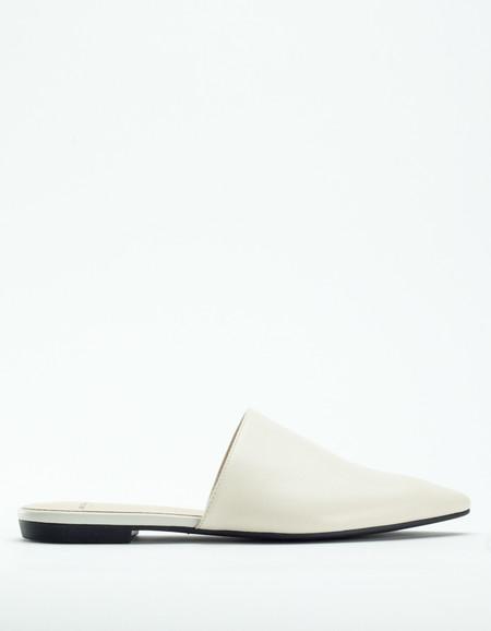 Vagabond Katlin Pointed Toe Slide Off White