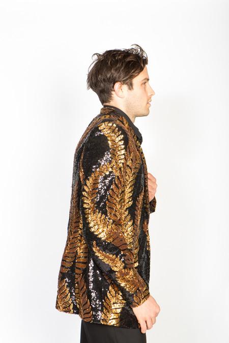 Any Old Iron Laurel Sequin Jacket - Golden