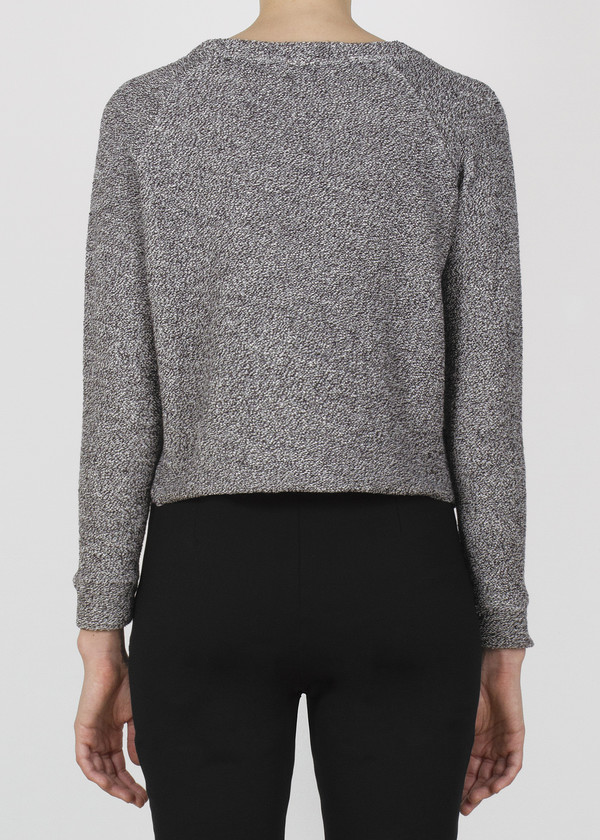 stipple top - black and white