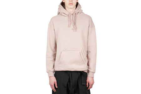 Purlicue TRIPLE HOOD AND POCKET PULLOVER - DUST PINK